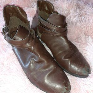 Brown Leather Ankle Boots (7.5)